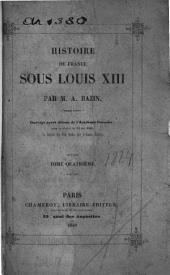 Histoire de France sous Louis XIII.
