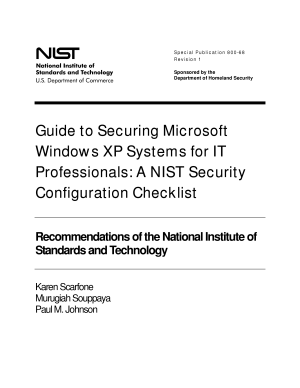 Guide to Securing Microsoft Windows XP Systems for IT Professionals  A NIST Security Configuration Checklist