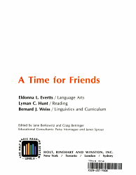A Time For Friends Book PDF