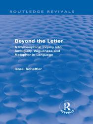 Beyond the Letter  Routledge Revivals  PDF