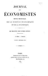 Journal des économistes: Volume3