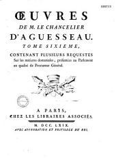 Oeuvres de M. le chancelier d'Aguesseau...