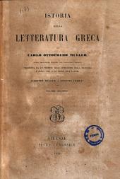 Istoria della letteratura greca Carlo Ottofredo Muller: 2