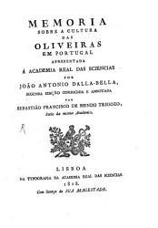 Memoria sobre a cultura das Oliveiras em Portugal PDF