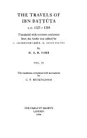 The Travels of Ibn Batt  ta  A D  1325 1354 PDF