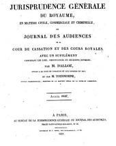 Recueil critique de jurisprudence et de législation: Volume1827