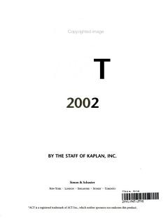 Kaplan ACT 2002 Book