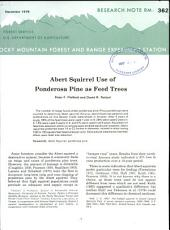 Abert squirrel use of ponderosa pine as feed trees