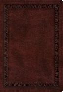 ESV Value Compact Bible  TruTone  Mahogany  Border Design