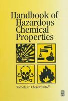 Handbook of Hazardous Chemical Properties PDF