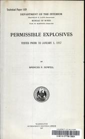 Permissible explosives: tested prior to January 1, 1917