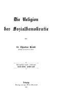 Die Religion der Sozialdemokratie PDF