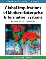 Global Implications of Modern Enterprise Information Systems  Technologies and Applications PDF
