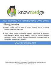 High Yield Internal Medicine Board Exam Pearls