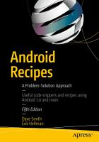 Android Recipes PDF