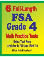 6 Full Length FSA Grade 4 Math Practice Tests PDF