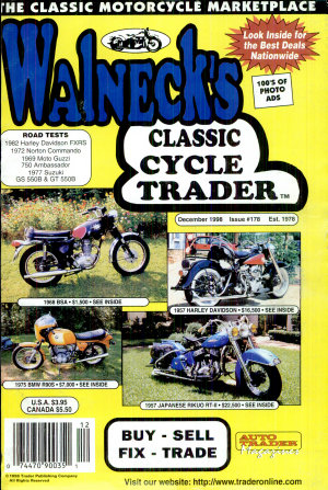 WALNECK S CLASSIC CYCLE TRADER  DECEMBER 1988 PDF
