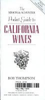 The Simon   Schuster Pocket Guide to California Wines PDF