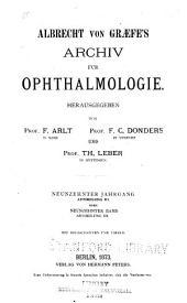 Albrecht von Graefes Archiv für klinische und experimentelle Ophthalmologie: Band 19,Ausgabe 3