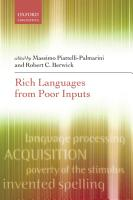 Rich Languages From Poor Inputs PDF