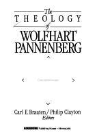 The Theology of Wolfhart Pannenberg PDF