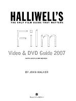 Halliwell s Film  Video   DVD Guide PDF