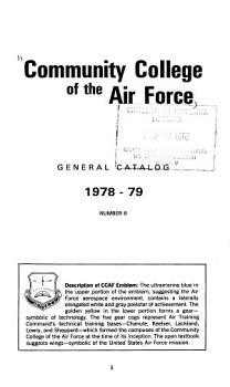 Community College of the Air Force General Catalog PDF