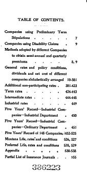 The little gem vest pocket chart of regular life insurance companies ...