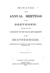 Minutes of the Annual Meetings of the Brethren PDF