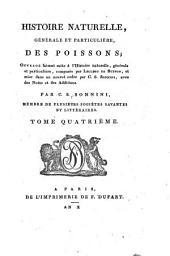 Histoire naturelle générale & particulière des poissons: Volume4