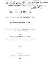 Felipe de Malla y el Concilio de Constanza: Estudio histórico-biográfico; documentos justificativos, y correspondencia diplomática de los embajadores aragoneses