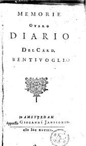 Memorie overo diario del cardinal Bentivoglio