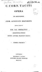 C. Corn. Taciti opera: Volume 1