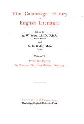 The Cambridge history of English literature: Volume 4