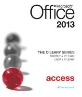 The O'Leary Series: Microsoft Office Access 2013