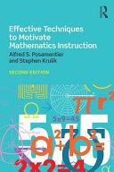 Effective Techniques to Motivate Mathematics Instruction PDF