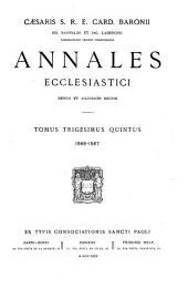 Annales ecclesiastici: A. D. 1-1571 denuo excusi et ad nostra usque tempora perducti ab Augustino Theiner, Volume 35