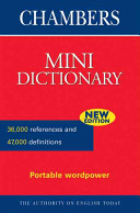 Chambers Mini Dictionary PDF