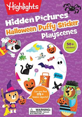 Halloween Hidden Pictures Puffy Sticker Playscenes