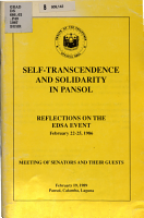 Self transcendence and Solidarity in Pansol PDF