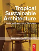 Tropical Sustainable Architecture PDF