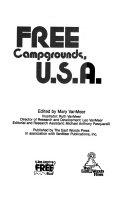 Free Campgrounds U S A  Book PDF