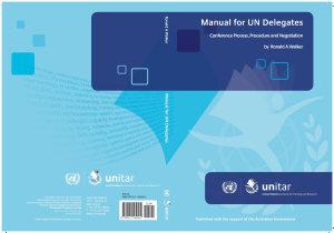 Manual for UN Delegates PDF