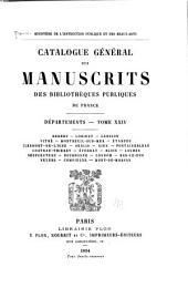 Catalogue général des manuscrits des bibliothèques publiques de France: Volume24
