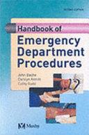 Handbook of Emergency Department Procedures PDF