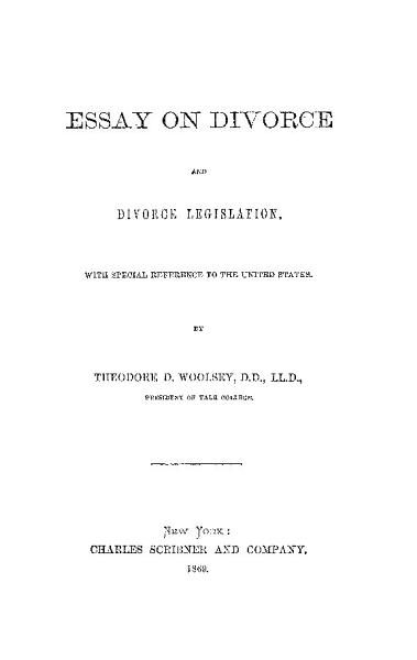 Download Essay on Divorce and Divorce Legislation wit hSpecial Reference to the United States Book