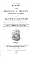 Annals of the Propagation of the Faith PDF