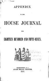 Appendix to the House Journals for ...