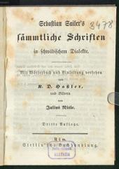Sämmtliche Schriften in schwäbischem Dialekte: mit Wörterbuch und Einleitung versehen von K. D. Haßler, und Bildern von Julius Nisle