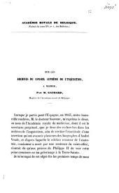 Sur les archives du conseil suprême de l'inquisition, à Madrid
